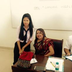 As judge during the River Talk programme in Poster Design competition at Royal Group of Institution on 20 October 2016