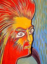 tulirekha deb's painting_ Anger_Water Colour tempara