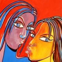 tulirekha deb's painting_ Selfie_Water colour tempara
